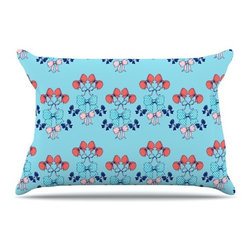 """Kess InHouse - Anneline Sophia """"Bows"""" Pillow Case, King (36"""" x 20"""") - This pillowcase, is just as bunny soft as the Kess InHouse duvet. It's made of microfiber velvety fleece. This machine washable fleece pillow case is the perfect accent to any duvet. Be your Bed's Curator."""