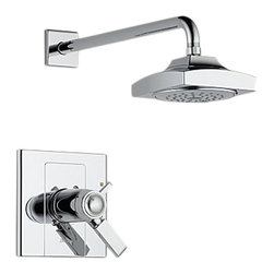 Delta - Delta T17T286 Arzo TempAssure 17T Series Shower Trim (Chrome) - Delta T17T286 Arzo Collection has a bold angular shape and for a comtemporary addition to your home. The Delta T17T286 is a Tempassure Shower Only Trim in Chrome.