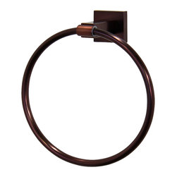 Vigo - Allure Square Design Hand Towel Ring in Oil Rubbed Bronze - The VIGO Allure Square Design Hand Towel Ring in Oil Rubbed Bronze will allow you to easily keep a towel within reach.