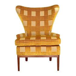 Cut Velvet Foundation Shop Chair - Dimensions 31.0ʺW × 26.0ʺD × 45.0ʺH