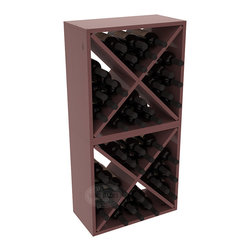 """Wine Racks America - 48 Bottle Wine Cube Collection in Ponderosa Pine, Walnut Stain + Satin Finish - Two versatile 24 bottle wine cubes. Perfect for nooks, crannies, and converting that """"underneath"""" space into wine storage. Mix and match finishes for a modern wine rack twist. Popular for its quick and easy assembly, this wine rack kit is a perfect storage solution for beginners and experts."""