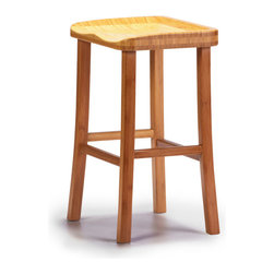 "Greenington - Greenington Tulip Bar Height Stool in Classic Bamboo - Caramelized [Set of 2] - Bar Height Stool in Classic Bamboo belongs to Tulip Collection by Greenington With smooth, sleek lines and a simple elegance that will enhance any living space, your dining area will be redefined as ""chic"" with The Tulip Dining Collection."