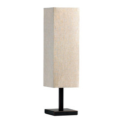 Cyan Design - Cyan Design Xavier Transitional Table Lamp X-07340 - The simple lines and elongated rectangular shade create a sense of modern elegance to this Cyan Design table lamp. From the Xavier Collection, this transitional table lamp features a raw cotton shade and a dark toned, contrasting Old World finish.