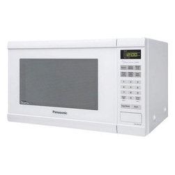 Panasonic - Panasonic 1.2 Cubic-Foot Microwave Family - White - Panasonic NN-SN651B - Family Size. 1.2 Cu. Ft. 1200 Watts Cooking Power.  Flat Panel (membrane).  White Door.  One-Touch Sensor Cooking (12 Categories).  One-Touch Sensor Reheat. Inverter Turbo Defrost.  4 Digit Display.  Keep Warm Setting.  Popcorn Key.  Quick Minute.  More / Less Control.  The Genius Collection.