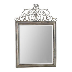Uttermost - Uttermost Kissara Metal Mirror in Warm Tarnished Silver - Uttermost - Accent Mirrors - 12865 - With the advanced product engineering and packaging reinforcement Uttermost maintains some of the lowest damage rates in the industry. Each product is designed manufacturered and packaged with shipping in mind. Uttermost's mirrors combine premium quality materials with unique high-style design.