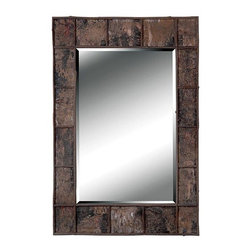 Kenroy - Kenroy 61002 Birch Bark Wall Mirror - A truly rustic design, this elegantly mottled frame is rich in earth tones and textures.  Each section of this Prairie styled frame has a Natural Birch Bark finish.