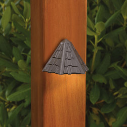Kichler Lighting - Kichler Lighting 15461AZT Landscape 12v 1 Light Deck/Step Lighting in Textured A - Shingled deck Light 12V
