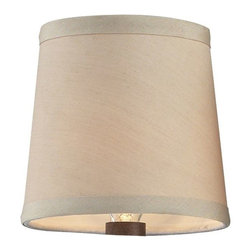 Elk Lighting - Elk Lighting Shade in Cream - The Chanette Collection Utilizes An Airy Wrought Iron Frame Line With Glass Beads To Highlight It'S French Empire Silhouette. A Careful Selection Of French Cut Crystals Are Added To Accent, Not Overwhelm, As The Cut Crystal Bottom Sphere Provides The Finishing Touch To The Presentation. Finished In Mocha With Optional Beige Shades. Shade (1)
