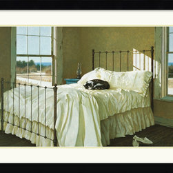 Amanti Art - Lazy Afternoon Framed Print by Zhen-Huan Lu - Who doesn't love the restorative quality of a good nap? Hang this peaceful little scene in your home and you'll get lost in the quiet light of this imagined room painted by Zhen-Huan Lu.