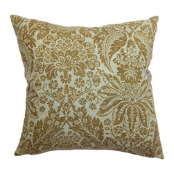 "The Pillow Collection - Harmony Floral Pillow Brown - This chic throw pillow adds style and personality in your space. The accent pillow features brown floral pattern, which gives off a homey vibe to your interiors. This decor pillow is a perfect adornment in the living room, lounge area, office and more. Mix and match this with solid-colored pillows for a stunning decor style. This 18"" pillow is made from 100% soft cotton fabric. Hidden zipper closure for easy cover removal.  Knife edge finish on all four sides.  Reversible pillow with the same fabric on the back side.  Spot cleaning suggested."