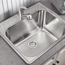 Blanco 441078 Essential One Hole Laundry Sink, Satin at PlumberSurplus.com