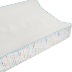 Babyletto - Babyletto Alphabets Contour Changing Pad Cover - T8083 - Shop for Baby Changing Table Sheets and Pad Covers from Hayneedle.com! Foster a love of language in your little literati with the Babyletto Alphabets Contour Changing Pad Cover because bathroom reading doesn't start with potty training but with diaper changes. The plush easy-to-clean terry top is paired with a colorful side print featuring childlike mock-cursive squiggles for the perfect finishing touch to your nursery. About Million Dollar BabyMillion Dollar Baby is a children s furniture company with a solid reputation for safety and traditional style. They are a family dedicated to improving and enhancing the lives of families worldwide. Million Dollar Baby was started in 1990 and built with a strong emphasis on quality and safety. Their quality control teams manually check the safety of their products in the factory and once again when they arrive in the warehouses in Los Angeles and Atlanta. These checks are in addition to those required by the JPMA and CPSC. Million Dollar Baby provides peace of mind to parents through their high safety standards as well as their environmentally conscious and socially responsible manufacturing. Million Dollar Baby has been featured in Consumer Reports and number one on the safest cribs list! Their family of brands includes Million Dollar Baby Classic DaVinci Babyletto Nursery works Franklin & Ben and ubabub.