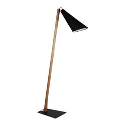 ParrotUncle - New Design Black Wood Floor Lamp - Give your living room a new and stylish look with this Black Wood Floor Lamp and add a modern touch to your home. Black flashlight fabric lampshade with wooden rod, simple and modern style floor lamps will give you more choice for your living room decoration.