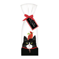 Cardinal Cat Towel, Set of 2
