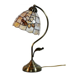 ParrotUncle - Brass Base Sea Shell Tiffany Lotus Table Lamp - Add the perfect finishing touch to your home decoration with this Brass Base Sea Shell Tiffany Lotus Table Lamp. We carry a large selection to choose from that come in a variety of patterns, heights, and bases with experts who can help you find the ideal design.
