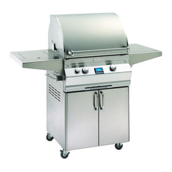Fire Magic - Fire Magic Aurora A530s-1E1N-61 Stand Alone Gas Grill - Cast stainless steel E'' burners guaranteed for life Largest cooking spacecompared to other same size grills Most BTUs per square inch.Heats fast and stays hot! 16-gauge stainless steel flavor gridsare engineered for durability and even heatdistribution Built-in Interior Lights Integral and removable ovenwarming rack for light cooking or warming food Electronic Spark ignitionsimply push in the control knob, turn up the gas and light the grill (no batteries required) Meat probewith digital thermometer Optional recessed stainless steel rotisserieback burnerand heavy duty rotisserie kit Built-in storage rackfor rotisserie spit rod Extensive lineof complementary accessories 432 square inches of cooking surface 15 year warranty on backburners Cast stainless steel burners, stainless steel housing and stainless steelcooking grids are warranted for as long as you own your grill