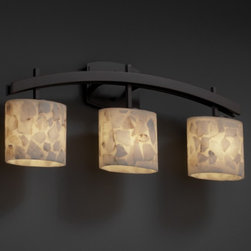 Archway Alabaster Rocks 3 Light Bathroom Vanity Bar by Justice Design ALR-8593-3 - ORDER TODAY ON HOUZZ AT LEE LIGHTING.
