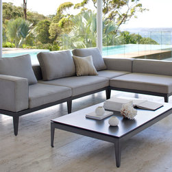 Outdoor Furniture Collections 2014 - Avalon modular lounge with low table shown here in Basics Ash fabric