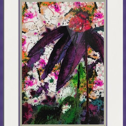 Abstract Purple Coneflower Collage -