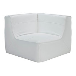 Align Leather Corner Sofa - There are sectional sets that claim to be modern by portraying some enlightened path forward. But for every one of these efforts, is an equal and opposite reaction. The more we use our own guile to paddle forward, the more the stream of present reality seems to rush against us. Align was designed as an attempt to wash away those hindrances that obstruct growth. If there had been a choice, the designers would have kept Align just that. But while a sectional sofa set needs to be made curved, the intent was to stay true to the original concept. Align comes generously padded and upholstered in bonded leather, with slight button tufting and trim for only the gentlest effect.