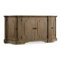 Hooker Furniture - Credenza - Like the Mediterranean island for which its named, Corsica is a melting pot of timeless design influences with a sun washed ambience and a casual attitude.