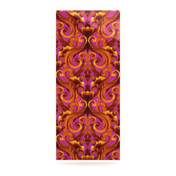 "Kess InHouse - Aimee St. Hill ""Intertwined Magenta"" Metal Luxe Panel (9"" x 21"") - Our luxe KESS InHouse art panels are the perfect addition to your super fab living room, dining room, bedroom or bathroom. Heck, we have customers that have them in their sunrooms. These items are the art equivalent to flat screens. They offer a bright splash of color in a sleek and elegant way. They are available in square and rectangle sizes. Comes with a shadow mount for an even sleeker finish. By infusing the dyes of the artwork directly onto specially coated metal panels, the artwork is extremely durable and will showcase the exceptional detail. Use them together to make large art installations or showcase them individually. Our KESS InHouse Art Panels will jump off your walls. We can't wait to see what our interior design savvy clients will come up with next."