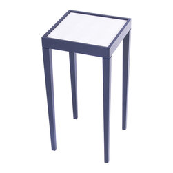 Tini I Small Designer Accent Table - Hinting Blue with Lizard White - Tini I goes beyond mere functionality to amplify the decorative value of your room. This splash of oomph draws the eye and creates a little bit of excitement adding color and definition to any interior space. The Tini I makes for a great gift and an excellent choice for your first piece of oomph. You never forget your first! Made in the U.S.A.