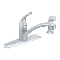 Moen - Moen 7430BC Chateau Single Handle Kitchen Faucet with Matching Sidespray - Moen 7430BC Chateau Single Handle Kitchen Faucet with Matching Sidespray in Brushed Chrome