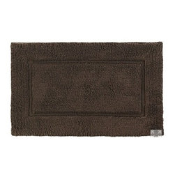 Kassatex - Elegance Bath Rug, Chocolate - Turkish Bath Rug
