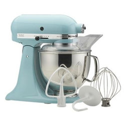KitchenAid® Artisan Aqua Sky Stand Mixer - What coastal kitchen would be complete without this aqua Artisan Stand Mixer by KitchenAid? I'll take one, please!