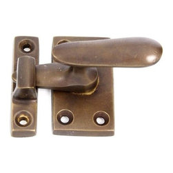 Restorers Casement Latch With Lever Handle - Classic design, durable solid brass construction and four distinctive finishes-all at a great price! We're certain you won't find a better value anywhere on a quality casement latch like this. Matching mounting hardware included.