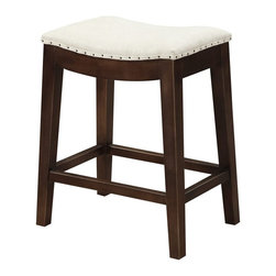 Emerald Home - Emerald Home Rancho 27 in. Counter Stool Multicolor - D50-27-09 - Shop for Stools from Hayneedle.com! Hacienda style comes home with the Emerald Home Rancho 27 in. Counter Stool. Create a place for casual dining snacking and kibbutzing with the cook. Nailhead trim defines the perimeter of the seat for a classic yet up-to-date appearance that can coordinate with a variety of styles. The solid wood frame features clean lines and the upholstery is executed in an upscale linen-look fabric.About Emerald Home FurnishingsFounded in 1962 Emerald Home Furnishings supplies to home furniture retailers throughout the United States Canada Mexico Australia Japan Taiwan England and other countries. The company originally started as a distributor of bed frames and furniture and over the years has added a number of high-quality items to its product line. The company s mission is to strive for innovation integrity and excellent service.