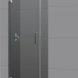 DreamLine - DreamLine SHDR-23297210-04 Radiance 29in Frameless Hinged Shower Door, Clear 3/8 - The Radiance shower door shines with a sleek completely frameless glass design. Premium thick tempered glass combined with high quality solid brass hardware deliver the look of custom glass at an incredible value. 29 in. W x 72 in. H ,  3/8 (10 mm) thick clear tempered glass,  Chrome or Brushed Nickel hardware finish,  Frameless glass design,  Out-of-plumb installation adjustability: No,  Fully frameless glass hinged shower door design,  Solid brass wall mount self-closing hinges and wall brackets,  Precise width measurement of finished opening required,  Door opening: 22 in.,  Stationary panel: 6 in.,  Reversible for right or left door opening installation, Brass