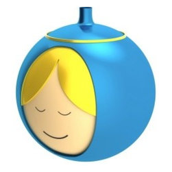 "Alessi - Alessi ""Madonna"" Christmas Bauble - What a great accompaniment to your holiday Manger set! This smiling rendition of Mother Mary is made from blown glass and features exquisite detail. It keeps your tree in the spirit of Christmas."