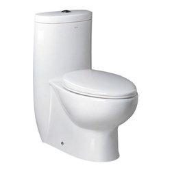 Fresca - Fresca FTL2309 Delphinus One-piece Dual Flush Toilet With Soft Close Seat - Fresca FTL2309 Delphinus One-piece Dual Flush Toilet With Soft Close Seat