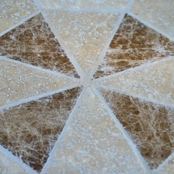 """IMOTEP 49"""" & 63"""" ROUND MARBLE MOSAIC STONE GARDEN PATIO TABLE - Reference: OT905-12-US+OTB2-12-US"""