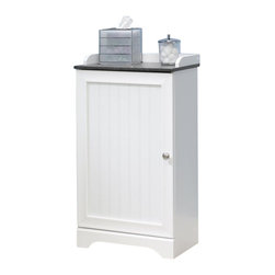 Sauder - Sauder Caraway Floor Cabinet in Soft White - Sauder - Bathroom Cabinets - 414032 -