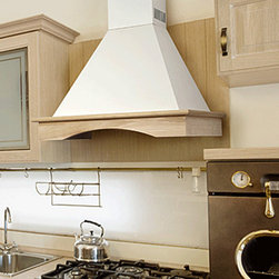 NT AIR - NT AIR CHR-115 36-inches - This stainless steel wall mount range hood from NT Air features tempered curved glass and two washable filters. Three speed controls add convenience and an off-white wood finish complements this range hood.