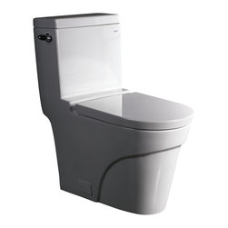 Ariel Bath - Ariel Platinum Oceanus Contemporary Toilet - Ariel cutting-edge designed one-piece toilets with powerful flushing system. Its a beautiful, modern toilet for your contemporary bathroom remodel.