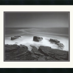 Island Cliff Framed Print by Chip Forelli
