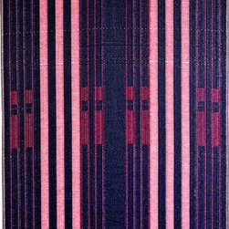 b.b.begonia - Area Rug/Patio Mat Bricklane- Reversible for Outdoor Use, 5x8 - A pleasingly simple stripe pattern in blue and red. This reversible mat is a great solution for the sunroom, for the patio, for the deck, by the pool or in the yard.