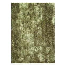 Rug - Solid Hunter Green Shaggy Area Rug, Green, 4 X 6 Ft, Solid, Hand-Tufted Area Rug - Living Room Hand-tufted Shaggy Area Rug