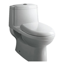 "Ariel - Ariel Platinum ""Anna"" Contemporary One Piece White Toilet 27x16x24.6 - Ariel cutting-edge designed one-piece toilets with powerful flushing system. It?s a beautiful, modern toilet for your contemporary bathroom remodel. Dimensions: 27 x 16 x 24.6, UPC Approved, 12"" Rough in For easy standard installation, High Quality Glaze that resist stains and Microbes, Seat is Included with the Toilet, Dual Flush 1.6 gpf / 0.8 gpf, Elongated Bowl, One Piece Construction for Clean modern look"