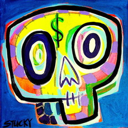 "Small $Kull 3 (Original) by Stucky - 12x12"" on gallery wrap stretched canvas, sides painted black"