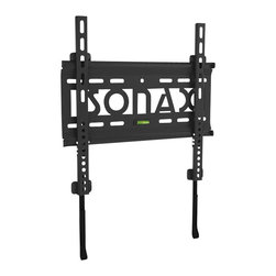 "Sonax - Sonax E-0066-MP Fixed Low Profile Wall Mount for 26"" - 50"" TVs - Sonax - TV Mounts - E0066MP - Flush your TV to the wall with this ultra slim flat panel wall mount by Sonax. Designed for TV's 26���-50��� this low profile mount sits just 1.9cm from the wall for a close custom fit. The heavy duty metal construction is built to hold up to 132lbs so you can mount your TV with confidence. Complete with a built in leveling system for easy DIY installation and VESA mounting patterns up to 400x400. This discrete low profile design is the perfect solution to customize your home interior and compliment your new flat panel TV. For a polished look pair this wall mount with your favorite Sonax TV or component stand."