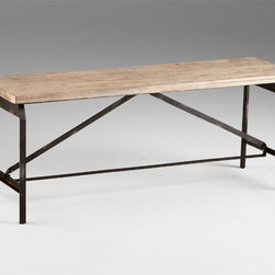 Cyan Design - Laramie Bench - Laramie bench - raw iron and natural wood