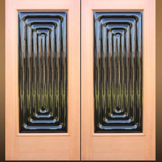 Contemporary Front Doors by Sculptural Glass Doors Inc