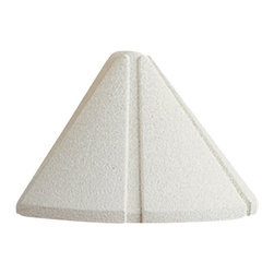 LANDSCAPE - LANDSCAPE Six Groove Mini Outdoor Deck Light X-THW56051 - From the Six Groove Collection, this Kichler Lighting mini outdoor deck light comes in a crisp Textured White finish that accentuates the conical shape which directs light downward for an elegant, decorative touch.