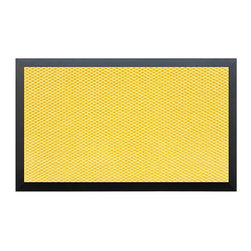 Momentum Mats - Teton Weather Resistant Yellow/ Black Entry Mat - Teton Entry Mats are the highest quality and most durable mats available. Made to withstand your highest traffic areas, this hobnail design aggressively cleans shoes and traps dirt and moisture. Fast drying, colorfast and weather tolerant.