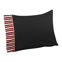 Sweet Jojo Designs - Pirate Treasure Cove Kids Sheet Set - The Pirate Treasure Cove kids sheet set will help complete the look of your Sweet Jojo Designs room. This solid black with striped trim and gold piping sheet set is available in a Twin and Queen Size and is machine washable for easy care.
